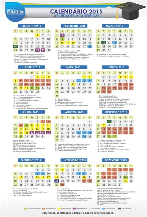 Calendario Unic Facem