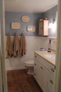 remodelaholic bathroom renovation with wood grain tile