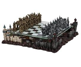 Fantasy Chess Set 17 quot medieval fantasy chess game set 3d castle platform metal pewter 3