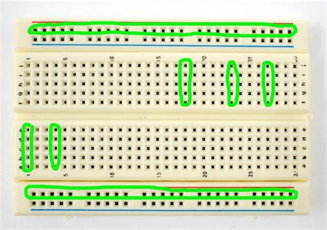 circuit in breadboard building circuits the of breadboards 4 steps