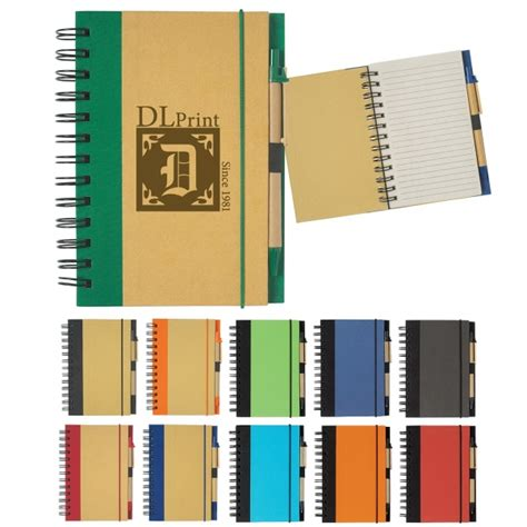 6100 Eco Inspired Spiral Notebook Pen - eco inspired 5 quot x 7 quot spiral notebook pen