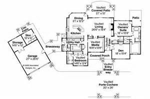 House Plans With Detached Garage In Back by Craftsman House Plans Arborgate 30 654 Associated Designs