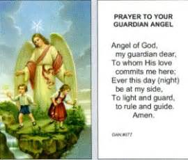 prayer to your guardian angel paper prayer card 100 pack