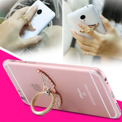 metal ring buckle stand phone for samsung s6 edge plus s5 4 note 5 for iphone 4 5s 6