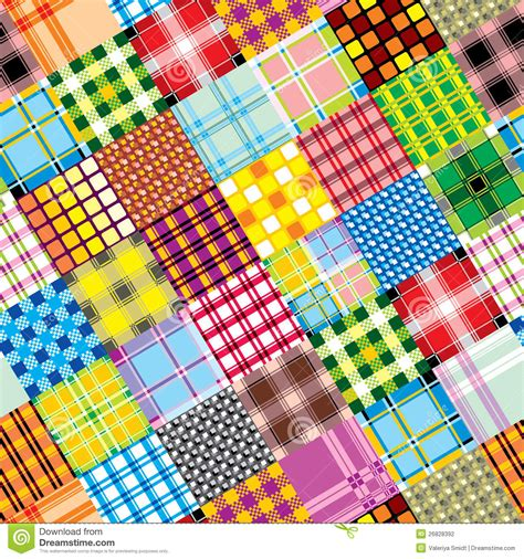 Patchwork Textiles - textile patchwork square stock photography image 26828392