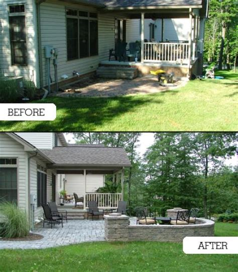 backyard makeovers before and after backyard makeover tussey mountain mulch