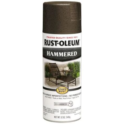 rust oleum stops rust 12 oz bronze protective enamel hammered spray paint 7218830 the