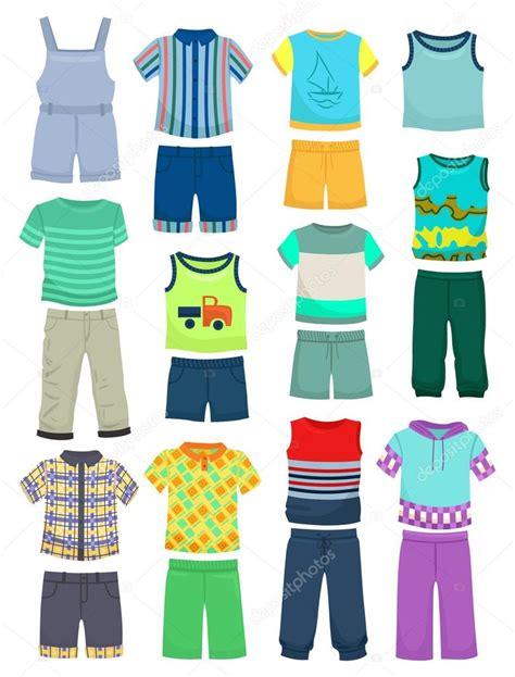 summer clothes for boys stock vector 169 sibiryanka