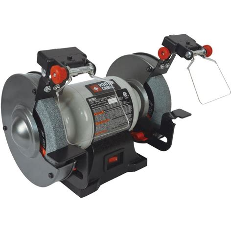 porter cable bench grinder shop porter cable 6 in bench grinder with built in light at lowes com