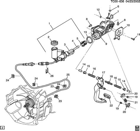 gmc parts diagram clutch pedal cylinders