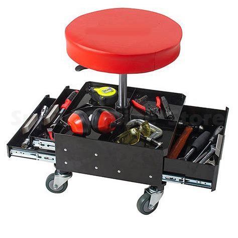 mechanics roller seat with drawers pro lift pneumatic chair with tool drawers mechanic