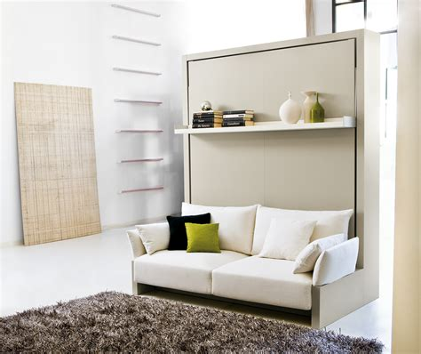 nuovoliola free standing wall bed with sofa clei