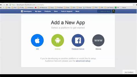 make design app how to create facebook app for website login pimble tree