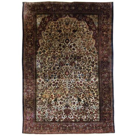 silk prayer rug antique silk souf kashan prayer rug for sale at