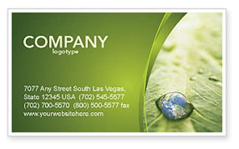 drop card template water drop business card template layout water