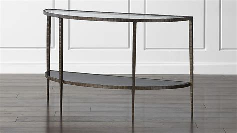crate and barrel table ls clairemont demilune console table crate and barrel