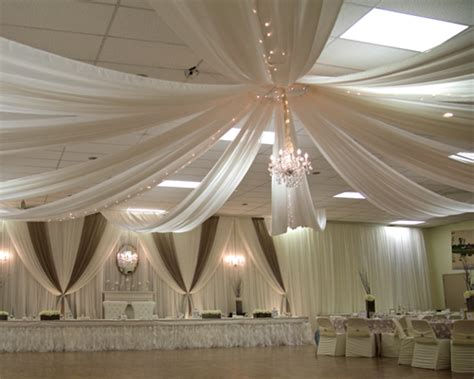 ceiling fabric draping 30ft 6 panel sheer fabric ceiling draping in assorted colors