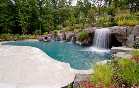 great pool great waterfall designs saddle river nj swimming pools nj tropical pool new york by