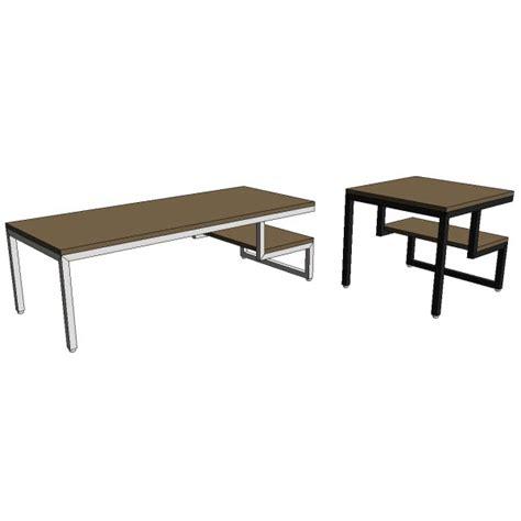 Gus Modern Coffee Table Gus Modern Ossington Coffee End Table 10138 2 00 Revit Families Modern Revit Furniture