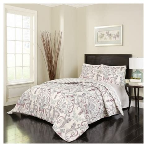 purple scroll royal meadow comforter set king 3pc