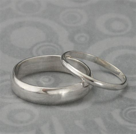 the pair set of two plain sterling silver