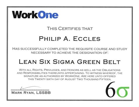 green belt certificate template lean six sigma green belt certificate