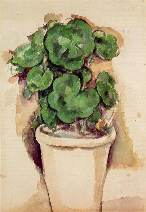 vaso di gerani vasi di gerani paul c 233 zanne il giardino tempo