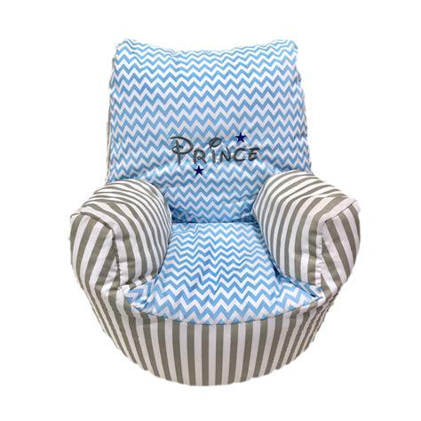 personalised bean bag chair uk personalised grey stripe and blue zigzag bean bag chair