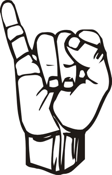 sign language i love you coloring pages sign language clip art clipart best