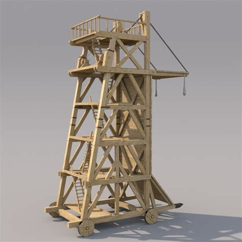3d holey wood 50 28 in x 12 in reclaimed wood decorative wall 3d model medieval siegetower