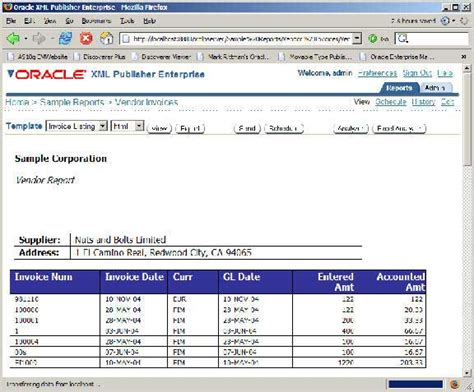 sle of a news report build an reporting application using oracle xml