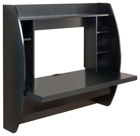 Space Saving Laptop Desk Modern Space Saving Wall Mounted Floating Laptop Desk Black Desks And Hutches By Hearts Attic
