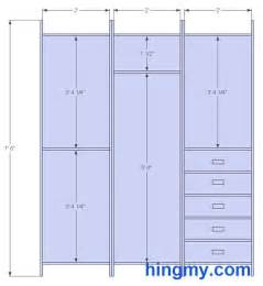 Clothes rod height woodworking diy project free woodworking plans