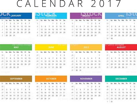 calendar  week starts sunday calendar grid  numbers  weeks stock vector art