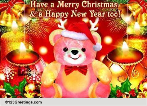 christmas teddy bear hugs  merry christmas wishes ecards