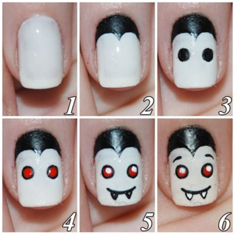 tutorial nail art halloween step by step halloween nail art tutorials viro nails