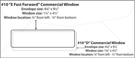 envelope templates commercial window envelope template