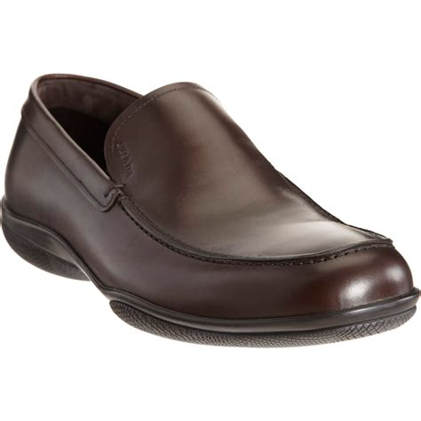 prada loafer prada apron toe loafer in brown for lyst