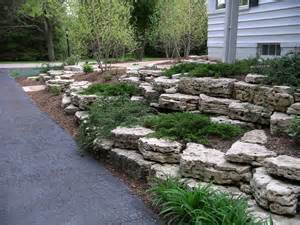 Landscape Ideas For Backyard On A Budget Retaining Walls And Outcroppings Treetops Landscape