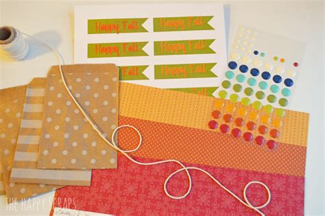 foiled trick or treat printable the happy scraps happy fall treat bag the happy scraps