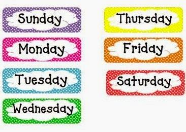 week name of days the world the days of the week