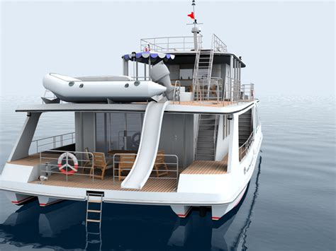 catamaran houseboat design yacht houseboat otrada seatech ltd