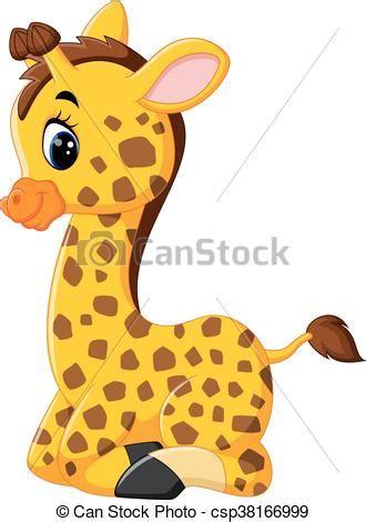 ilustraciones vectoriales de jirafa caricatura vector lindo jirafa caricatura ilustraci 243 n vectores eps