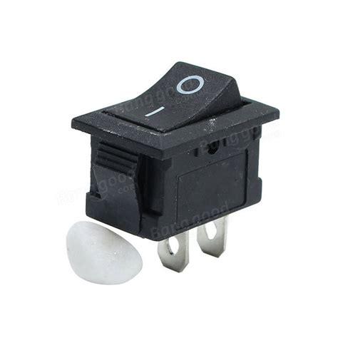 Push On Senter 2pin 5pcs black push button mini switch 6a 10a 110v 250v kcd1 101 2pin snap in on rocker switch