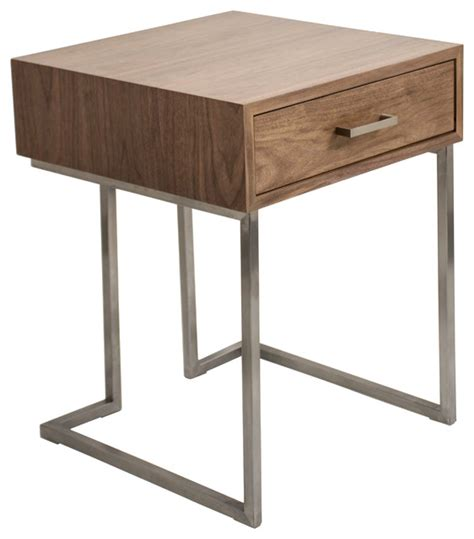 Contemporary Side Tables Contemporary End Table Walnut Transitional Side Tables And End Tables By Mid Mod