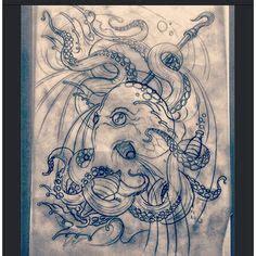emoji octopus tattoo full sleeve in the works latnightdrawing octopus