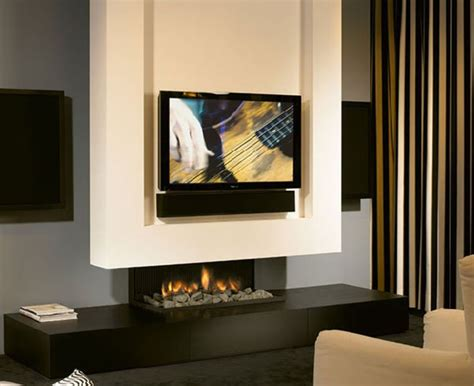 minimalist fireplace design with tv set minimalist