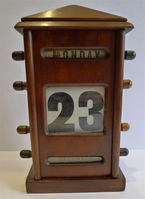 antique perpetual desk calendar antique english mahogany perpetual desk calendar c1900