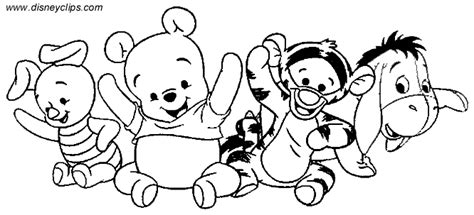 coloring pages of baby winnie the pooh and friends 6 baby winnie the pooh coloring pages