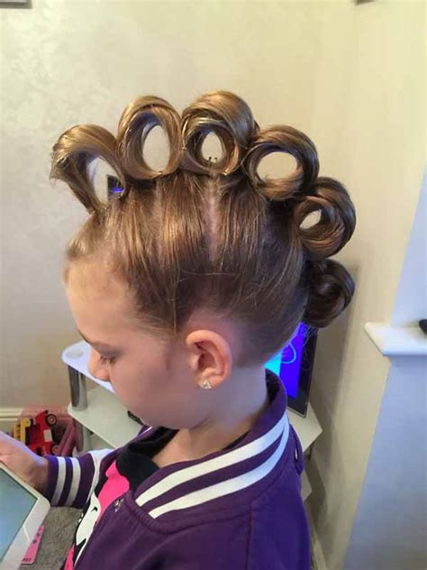 crazt hair balls could you replicate any of these wacky hairdos for your